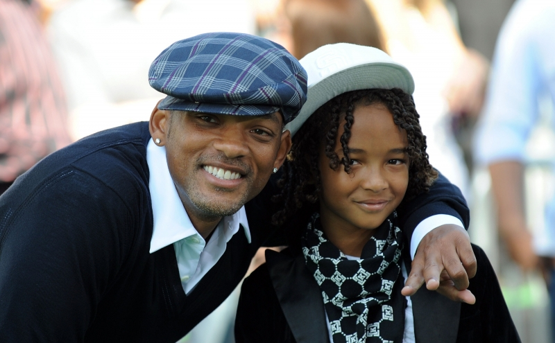 will smith son jaden smith. Will Smith with his son Jaden.