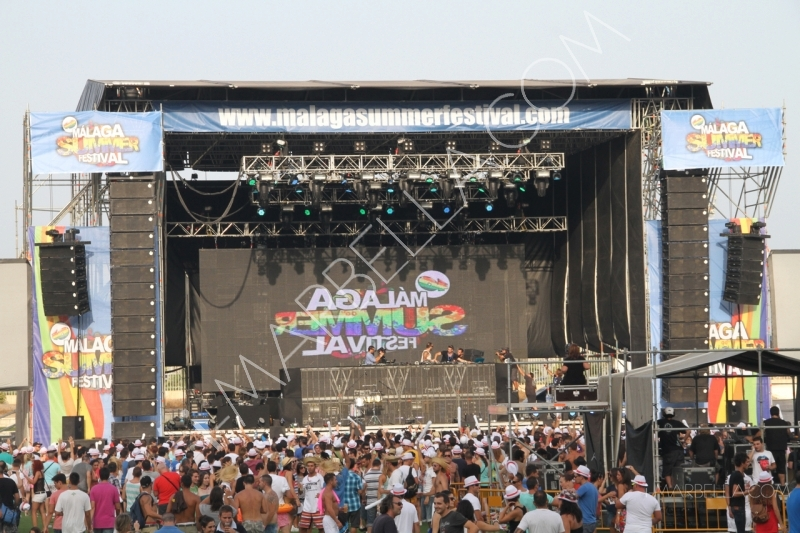 David Guetta, Alesso, Carlos Jean at Malaga Summer Festival Vol.1