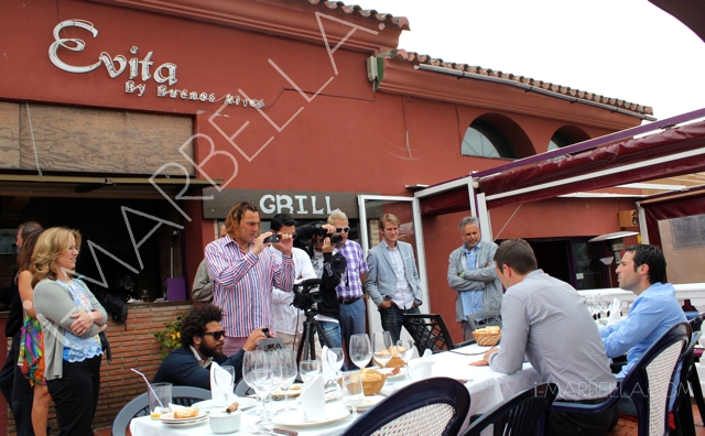 Press Lunch at Evita Restaurant