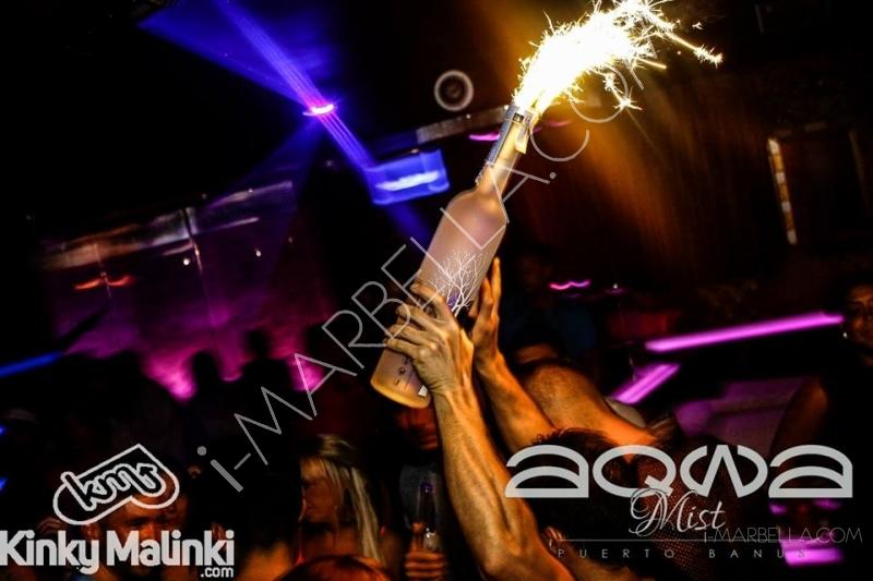 Kinky Malinki at Aqwa Mist Nightclub Marbella
