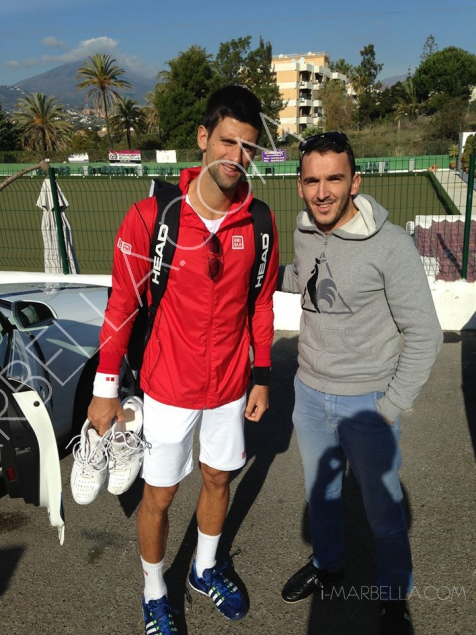 World No.2 Tennis Star Novak Djokovic Spotted in Marbella!