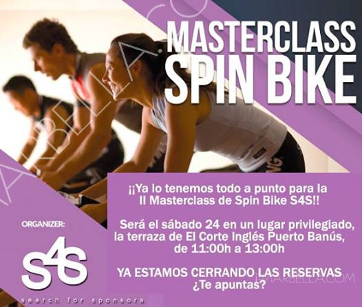 Spinning Masterclass This Saturday in El Corte Ingles Terrace