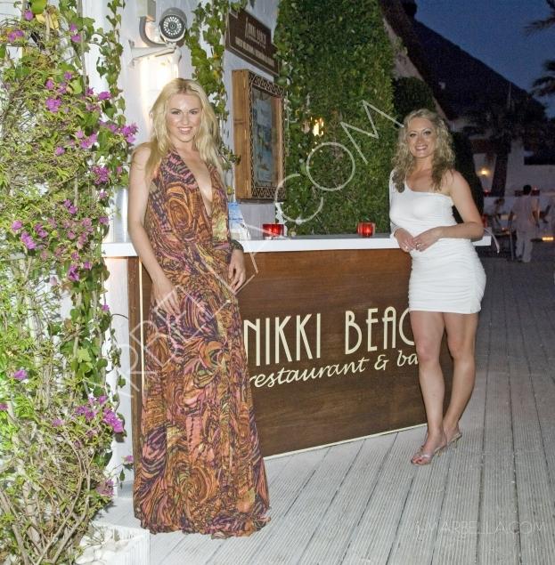 Zoe Salmon and Nikki Sanderson enjoy a weekend break at Nikki Beach Marbella