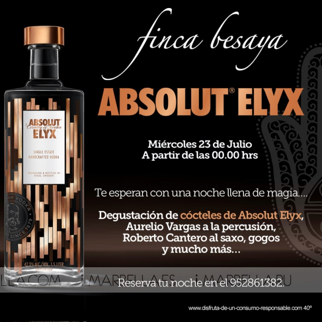 3 Summer Parties by Absolut Elyx in Finca Besaya