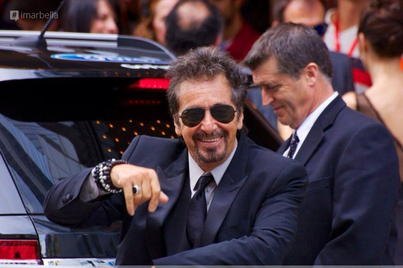 Christian-Rex with Al Pacino and other Celebrities at Toronto Film Festival