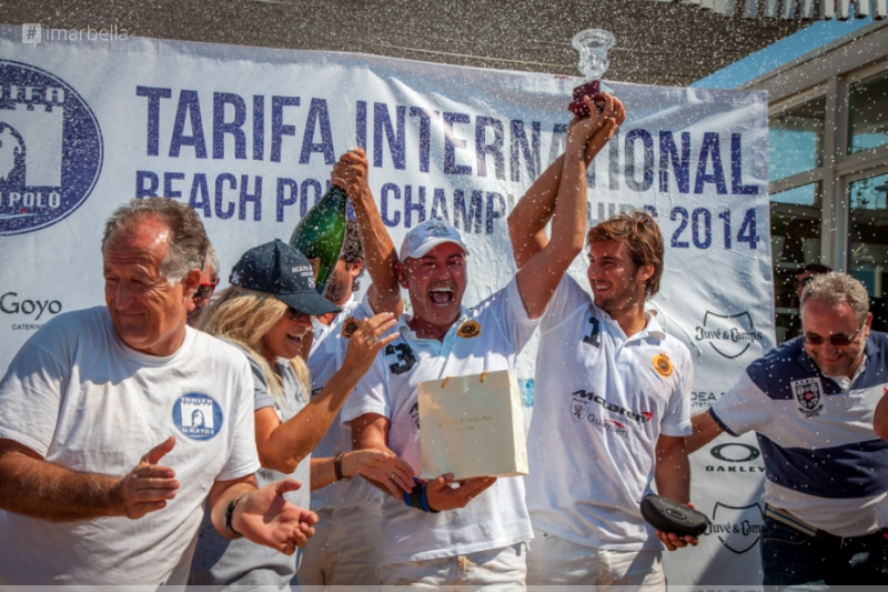 "The McLaren/Guarnieri team wins the first edition of the ""Tarifa International Beach Polo Championships"