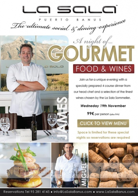 A Night of Gourmet Food and Wines