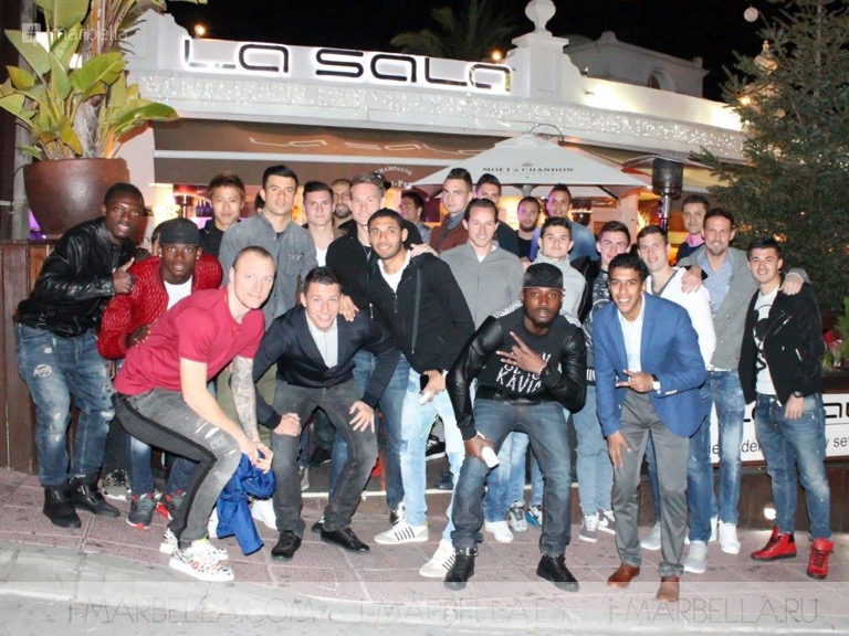 FC Basel's Fun Night Out at La Sala