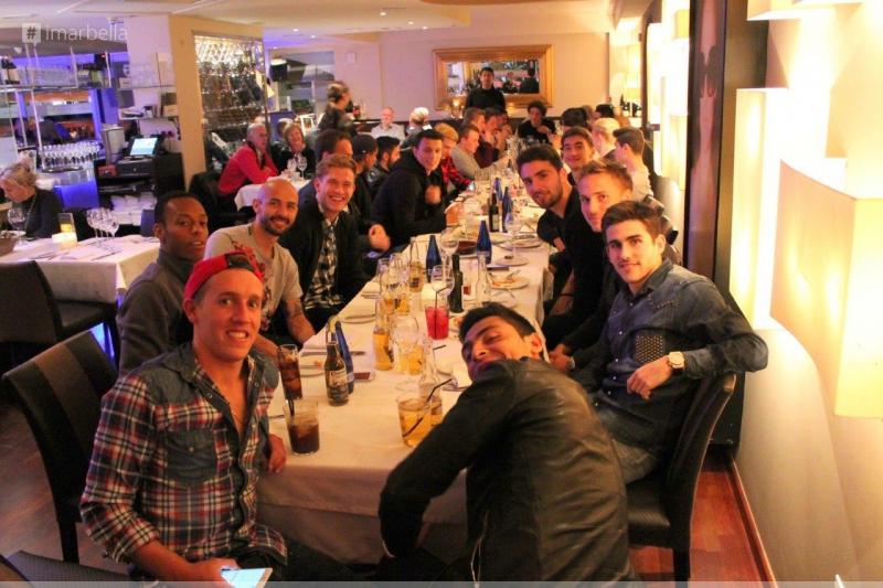 FC Basel's Fun Night Out at La Sala
