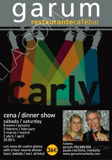 Dinner-Dance show with Carly in Garum