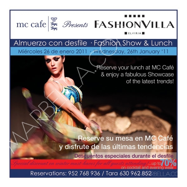 MC café fashion show