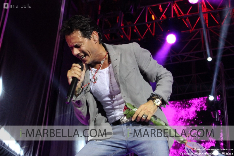 Marc Anthony Performs in Málaga in July 2015