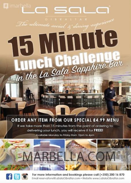 The 15-Minute Lunch Challenge @ La Sala Gibraltar