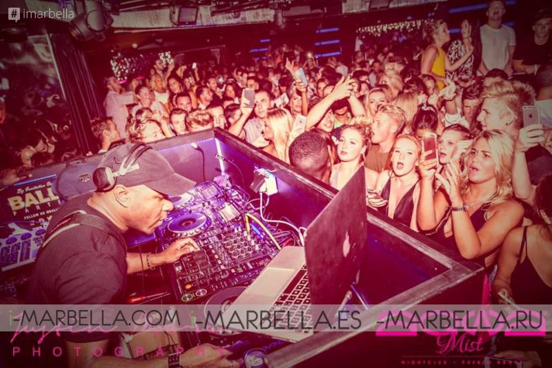 DJ EZ выступил в Пуэрто-Банус 28 августа 2015 года