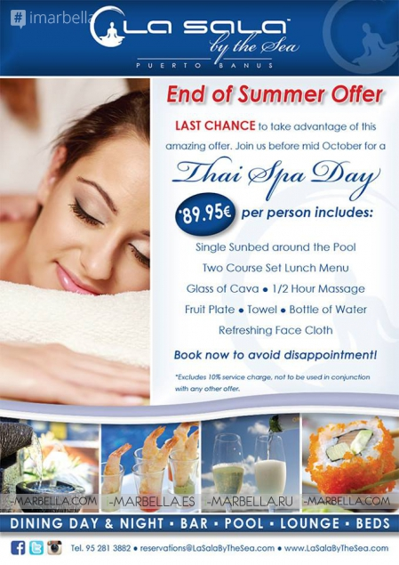 End of Summer Offer from La Sala by the Sea: Last Chance!