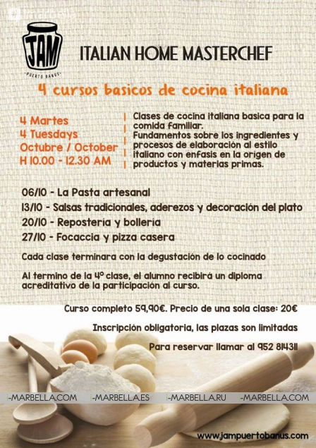 Sneak Peak into Italian Cuisine Masterclass @ JAM Puerto Banus on October 6, 2015