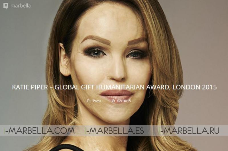 Katie Piper recibirá en la Gala Global Gift el Premio Humanitario de manos de Eva Longoria