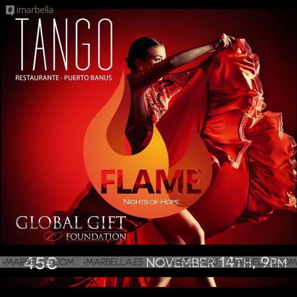 Global Gift Foundation Presents Flame, Night of Hope @ Tango Restaurant on November 14, 2015