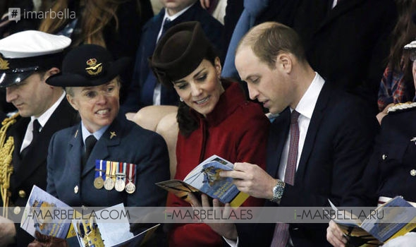 Duchess of Cambridge Dazzles in Red for RAF Parade with Prince William