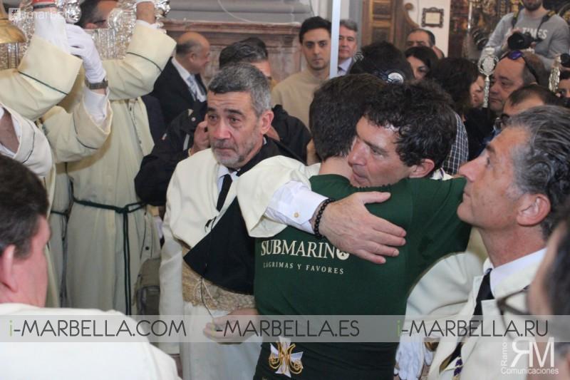 Антонио Бандерас и его возлюбленная Николь Кемпел проводят пасхальные праздники в Малаге