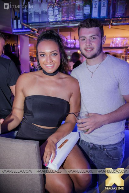 La Sala Puerto Banus Parties with Megan McKenna on May 26, 2016