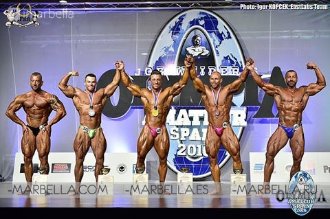 2016 Olympia Amateur in Spain, Marbella: Male Contestants and Winners