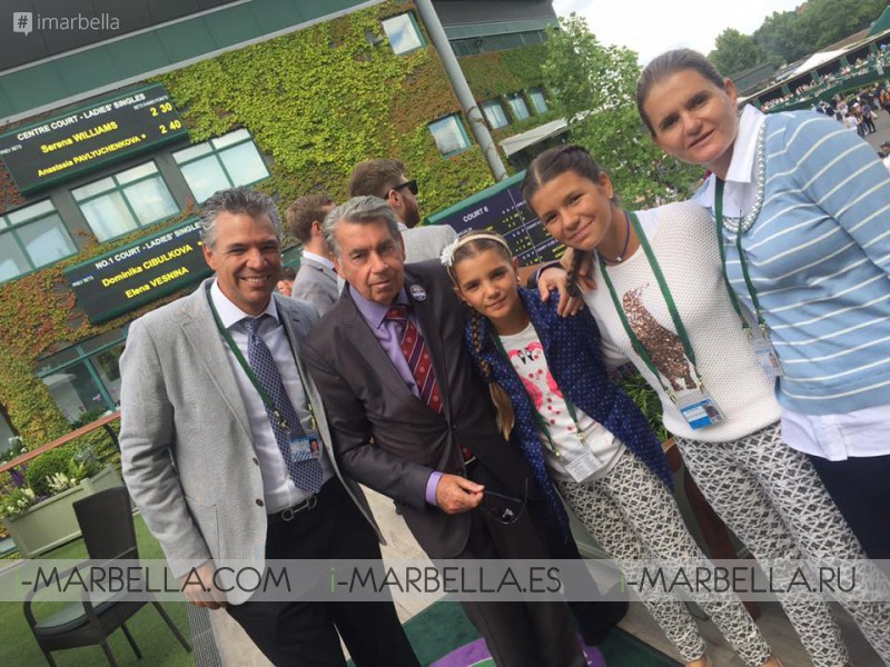 Manolo Santana Continues Celebration of 50 Years of Wimbledon Triumph