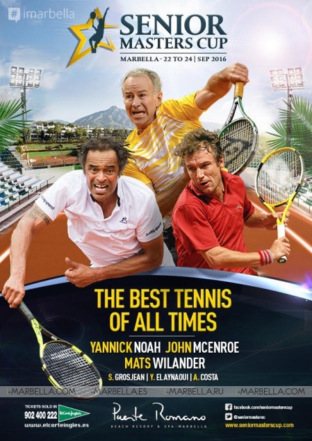 Best Tennis of All Times: Senior Masters Cup in Marbella on September 22-24, 2016