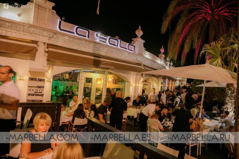 29.07.2016 в ресторане La Sala Puerto Banus