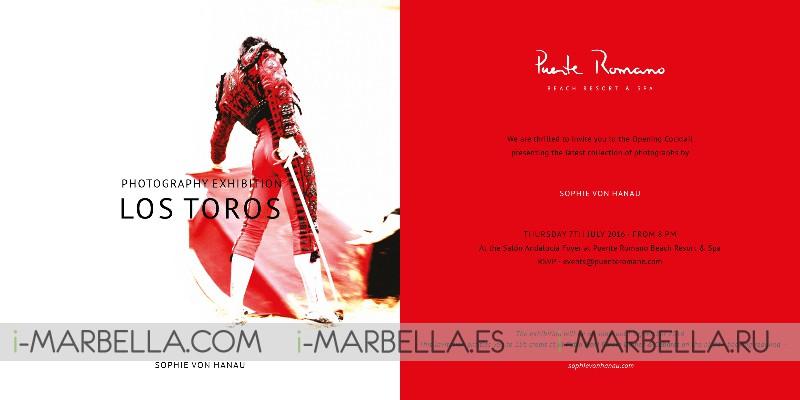 Closing of Photography Exhibition Los Toros @ Puente Romano on August 24, 2016
