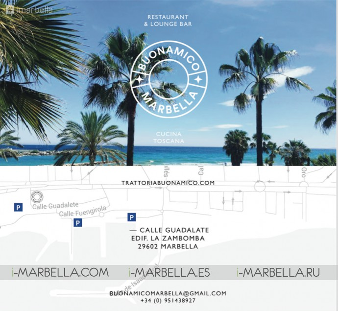 Buonamico Marbella is Open for Lunch with 12 Euro Offer