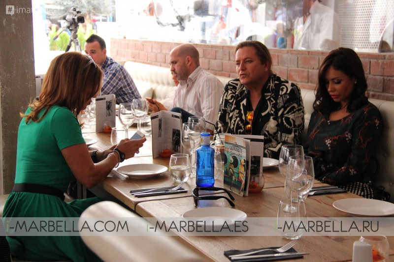 Press Lunch at The Launderette Puerto Banus at Halloween 2016