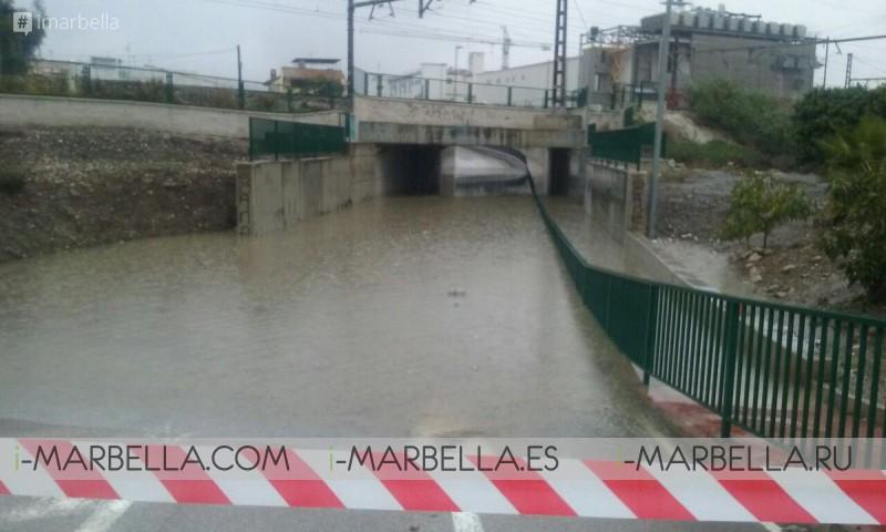 Rainfall Causes Flooding Chaos in Málaga Province