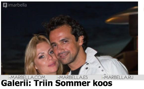 Kunagine tuntud Eesti laulja Triin Sommer on hakanud eskorttüdrukuks Marbellas