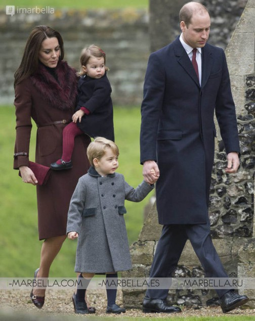 For the first time Kate and William take George and Charlotte to church on Christmas Day