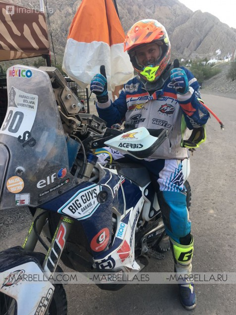Thomas Triisa achieves the best score ever for Estonia in Dakar race 2017