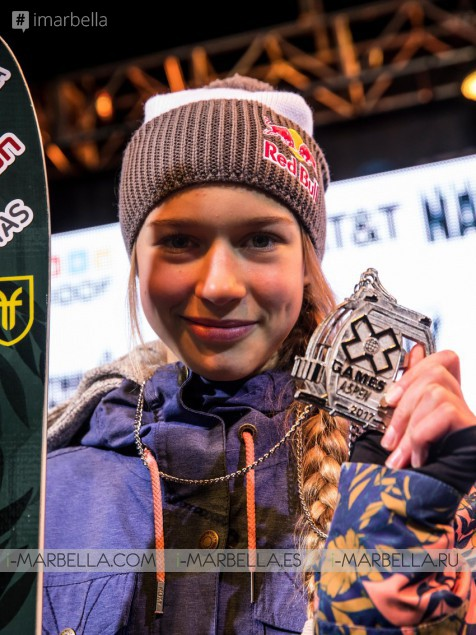 Youngest X Games ski slopestyle champion, estonian Kelly Sildaru won 2 gold medals