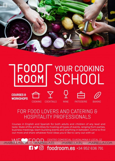 FOOD ROOM starts on 29th March 2017! Find your course!