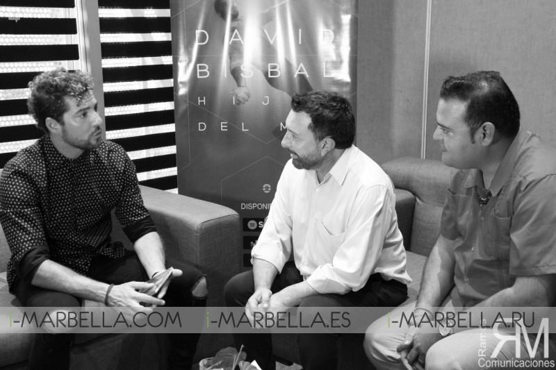 David Bisbal habla con Jose M. Parada y Ramos Comunicaciones en PANAMÁ