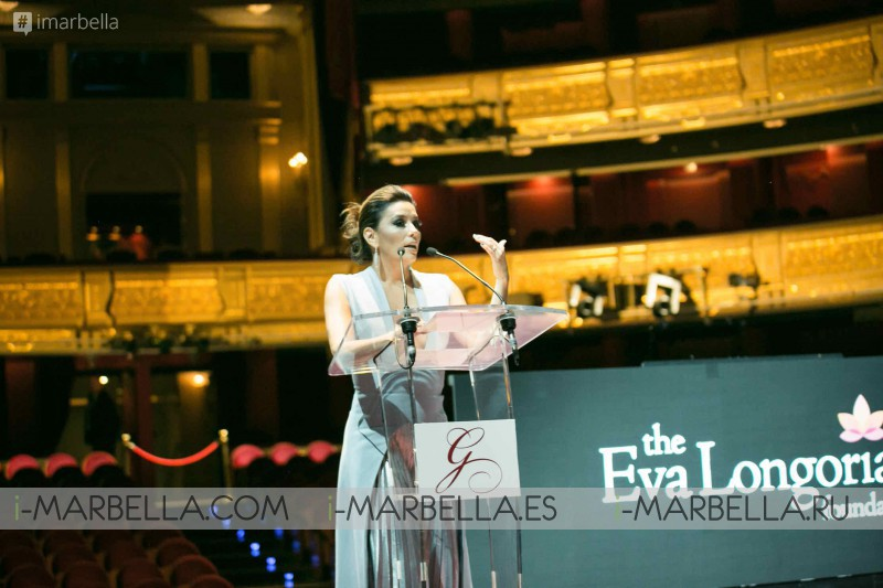 Global Gifta Gala Madrid 2017 inside with Eva Longoria! GALLERY