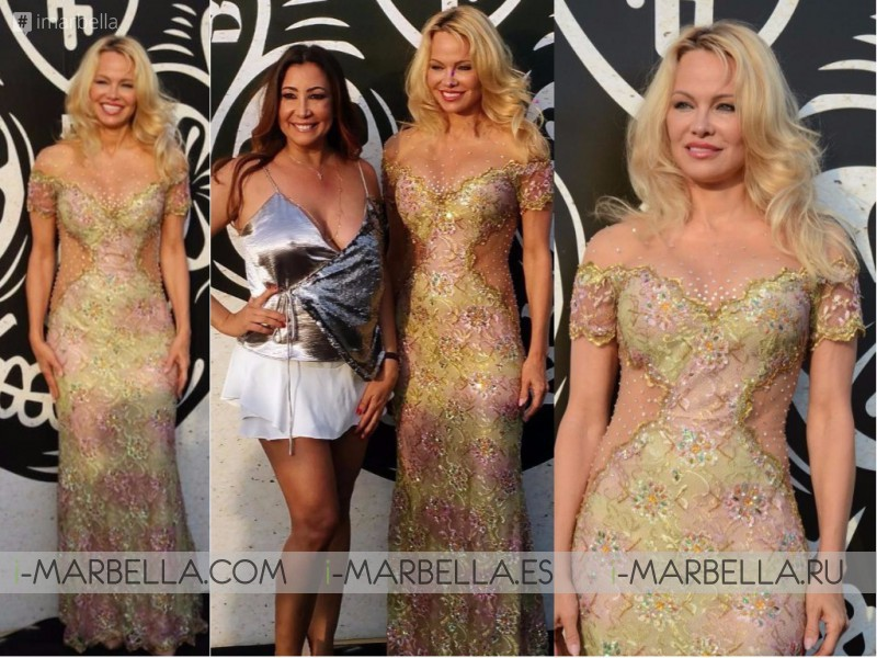 Pamela Anderson showed off famous curves in sexy dress at the beach club opening  in Marbella 2017