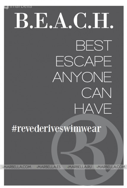 Rêve de Rive Swimwear brand on 17th June at Besaya Beach Marbella 2017