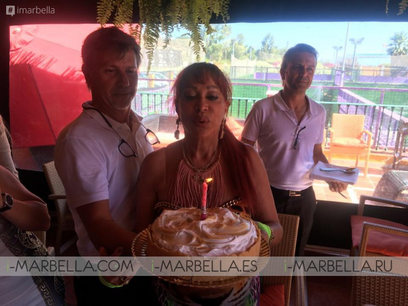 Baroness Shulamit von Bismarck celebrates her birthday at Manolo Santana Club July 2017