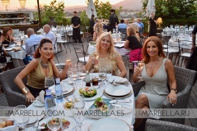 Yanela Brooks with friends at Finca Besaya Marbella Dinner Party July 2017 Gallery