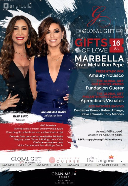 Eva Longoria to be the guest of honor for the The Global Gift Gala – Marbella 2017