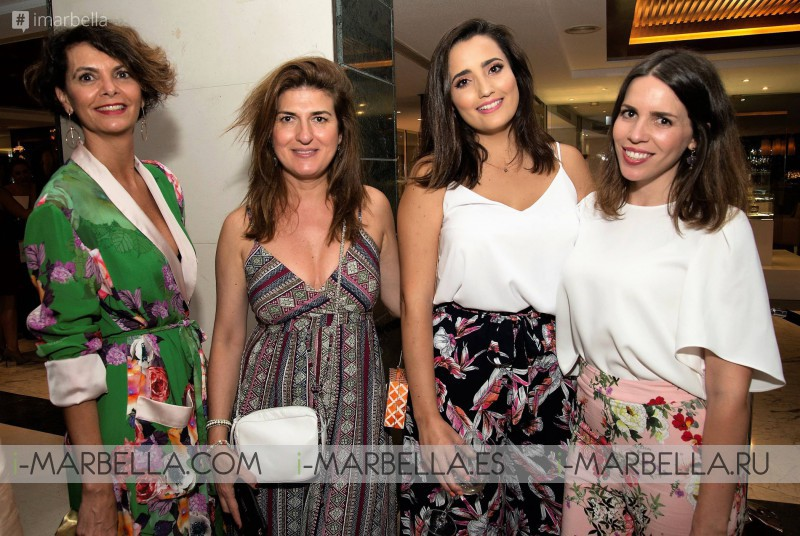 Nieves Álvarez inaugurates in Marbella the first pop up showroom of La Fenestra, July 2017