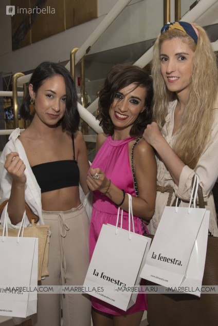 Nieves Álvarez inaugurates in Marbella the first pop up showroom of La Fenestra, July 2017
