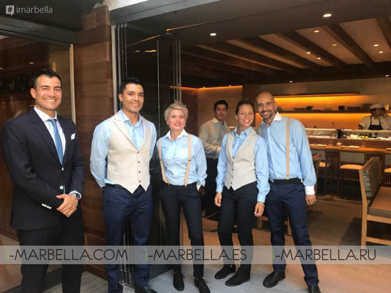Nobu Matsuhisa in NOBU Marbella to train and supervise TOP quality service for his new Restaurant, July 2017
