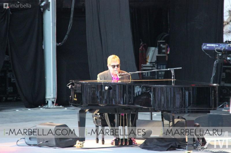 Sir Elton John conquers Starlite, Marbella with his Piano Grand Cola, July 2017