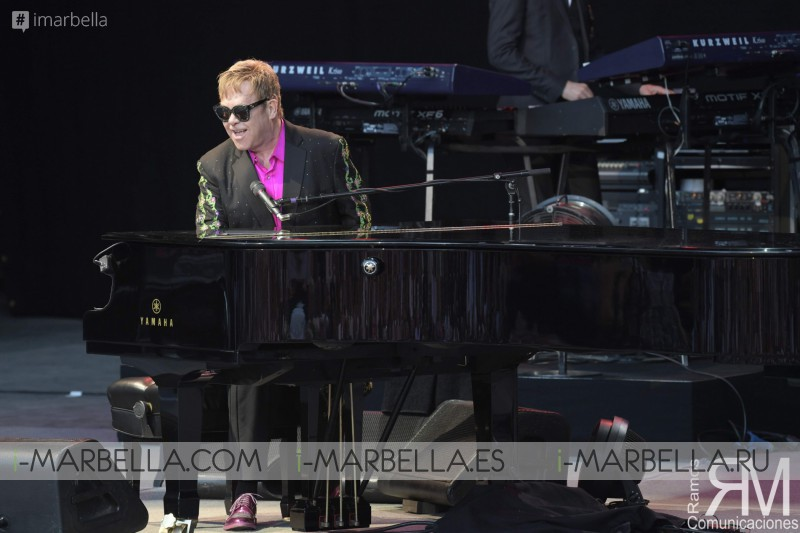 Sir Elton John conquers Starlite, Marbella with his Piano Grand Cola, July 2017
